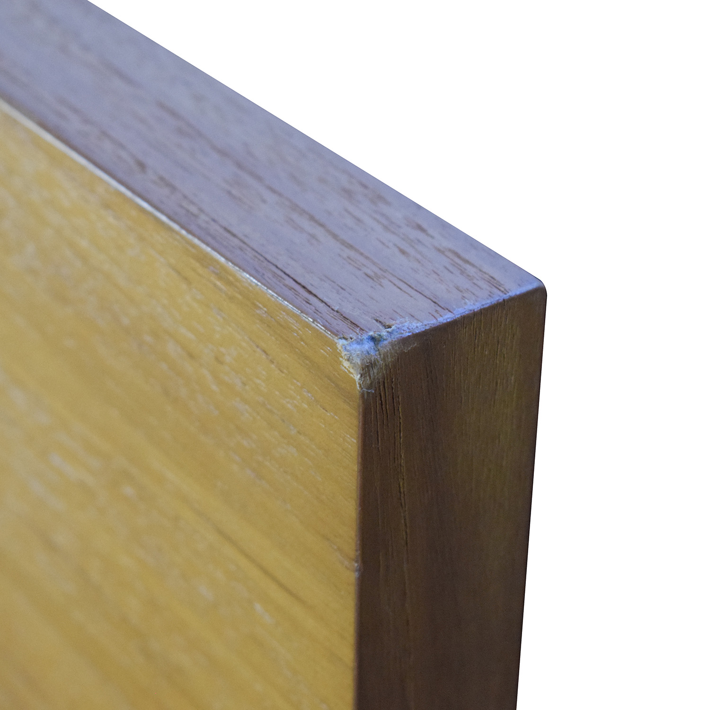 shop West Elm Nash Metal and Teak Queen Platform Bed Frame with Storage West Elm Bed Frames