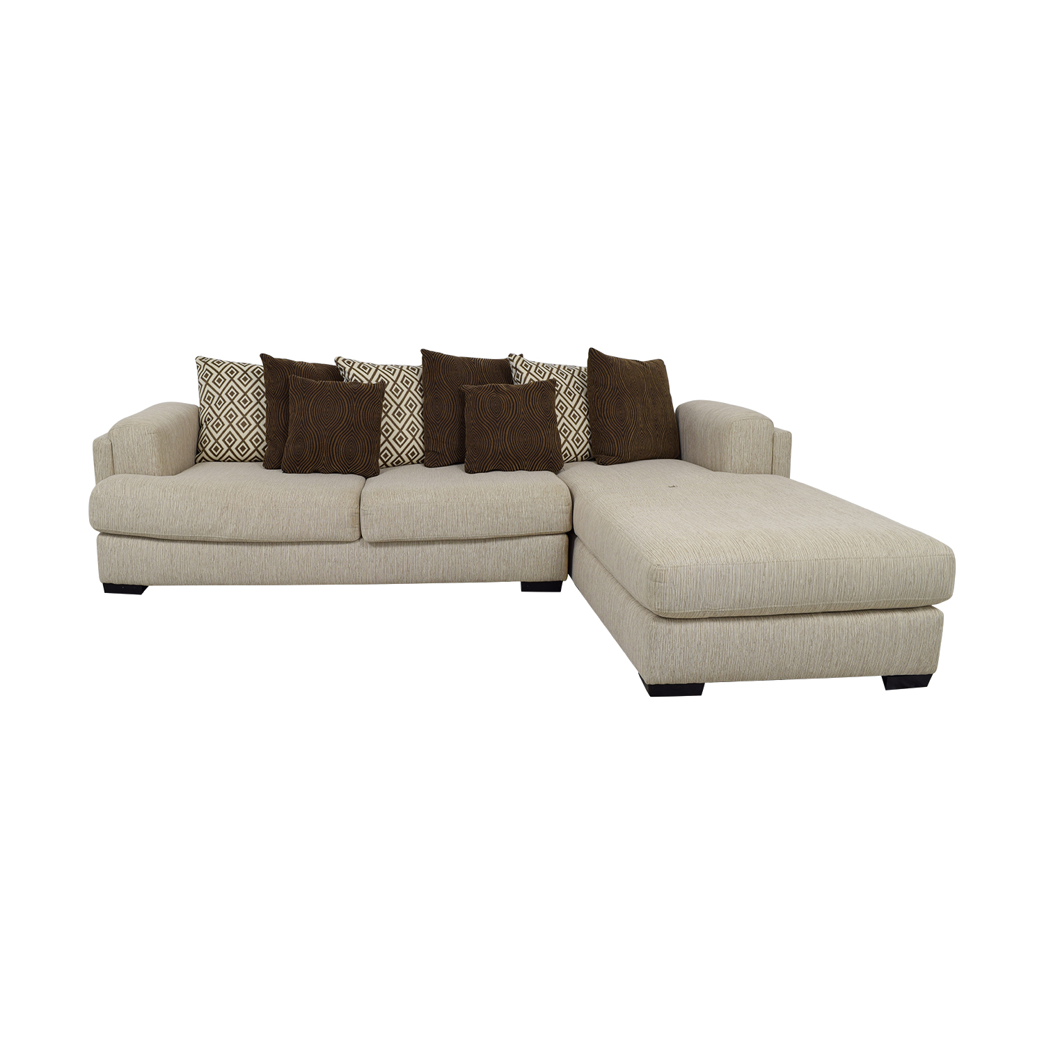 Raymour & Flanigan Raymour & Flanigan Urbanity Beige Chaise Sectional nj