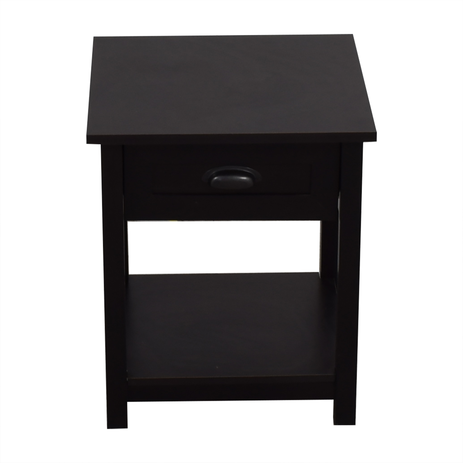 Single Drawer Black Nightstand second hand