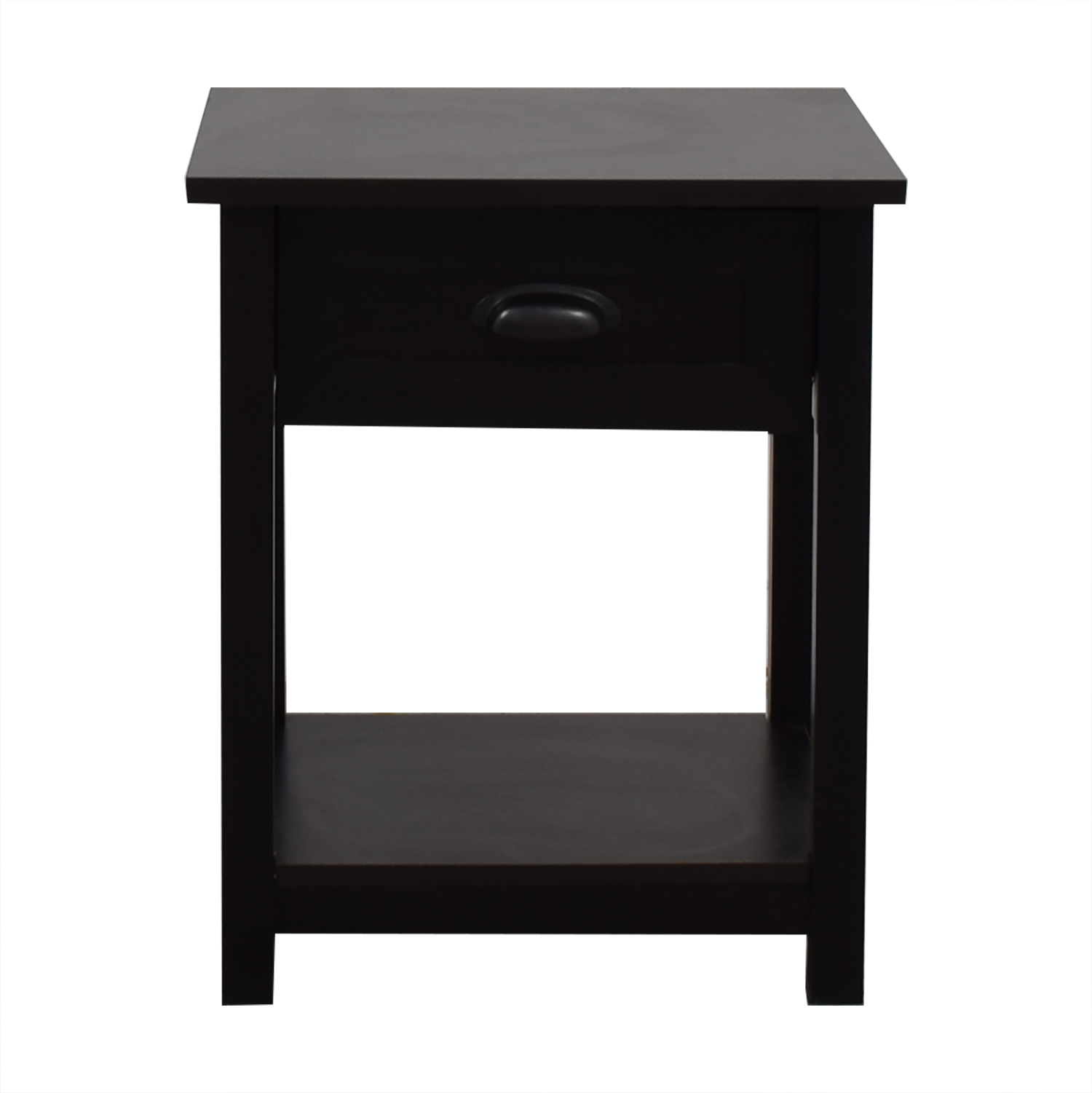 Single Drawer Black Nightstand ...