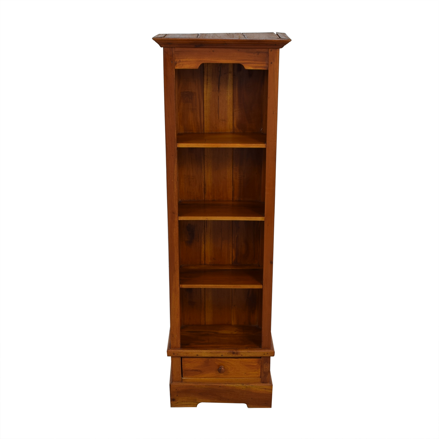 Tall Brown Wood Bookcase Storage