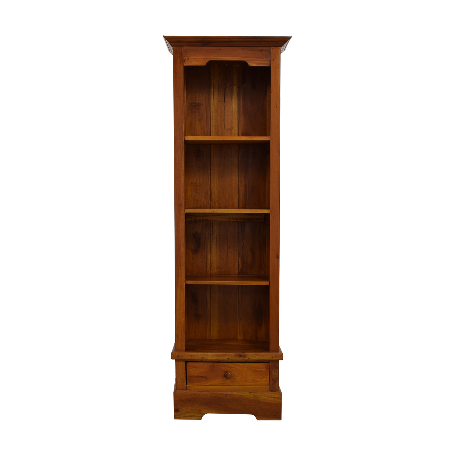 Tall Brown Wood Bookcase Bookcases & Shelving