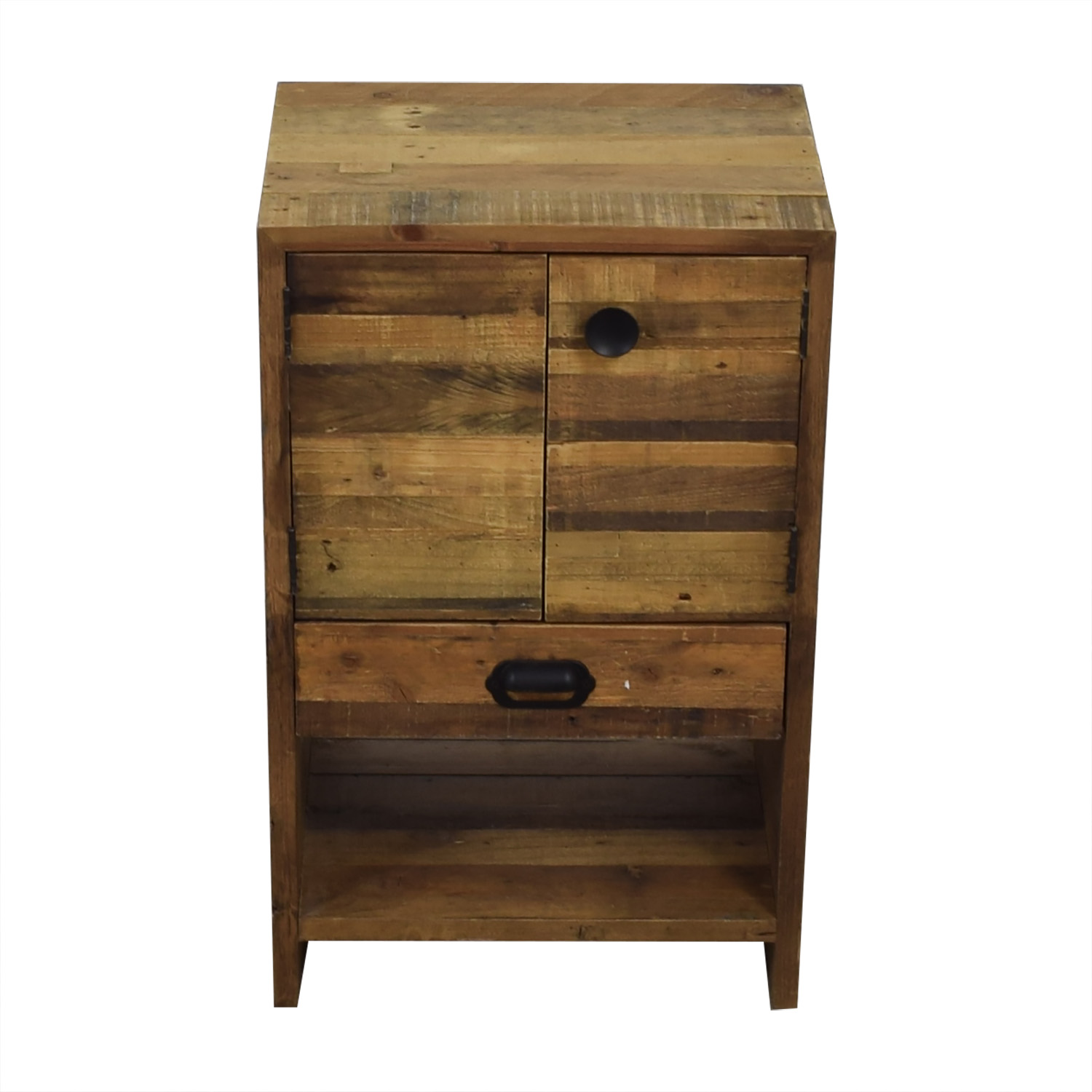 West Elm West Elm Rustic Wood Single Drawer Night Stand for sale