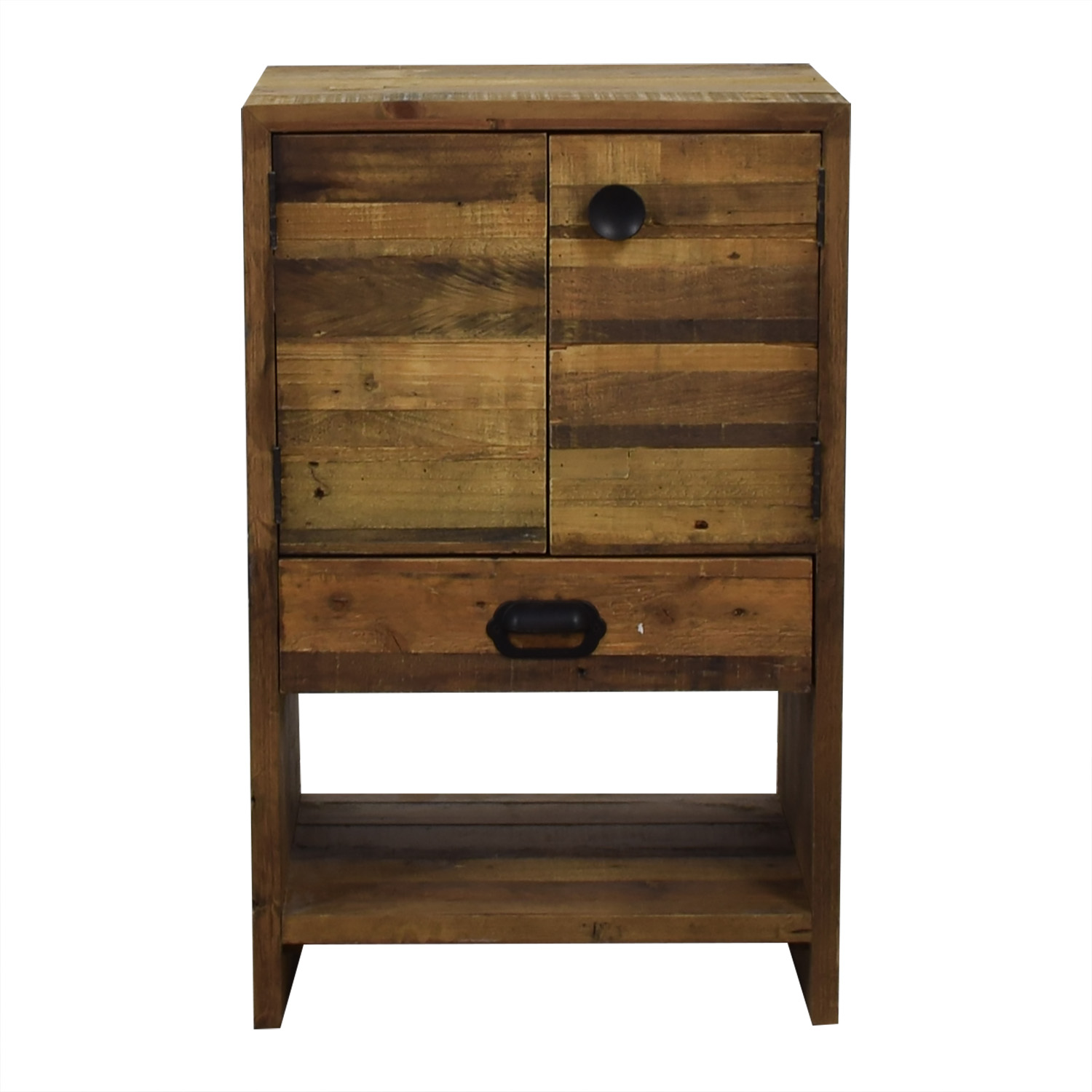 shop West Elm Rustic Wood Single Drawer Night Stand West Elm Tables