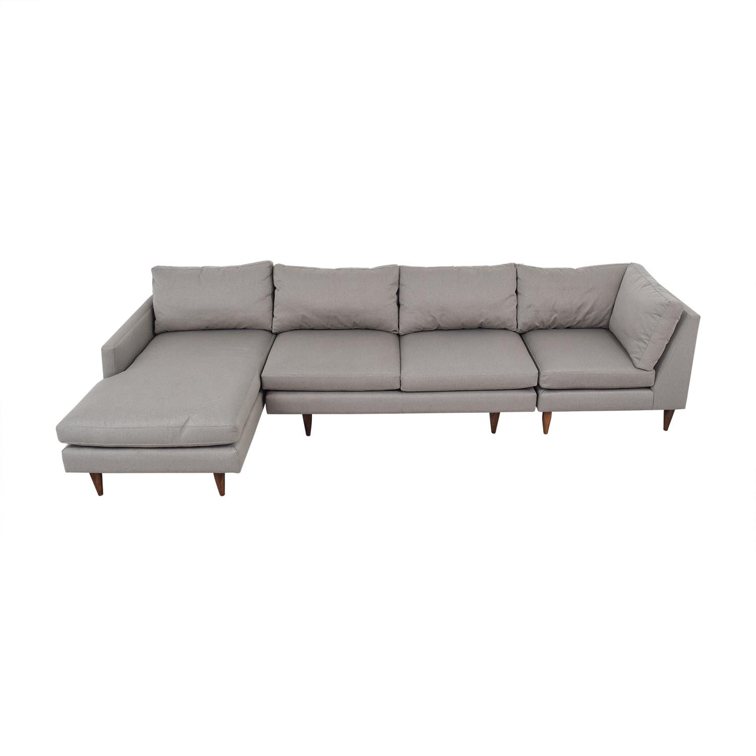 Room & Board Room & Board Jasper Grey Chaise Sectional Sofas