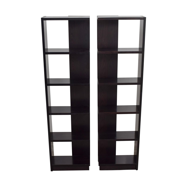 Brown Modern Bookshelves Bookcases & Shelving