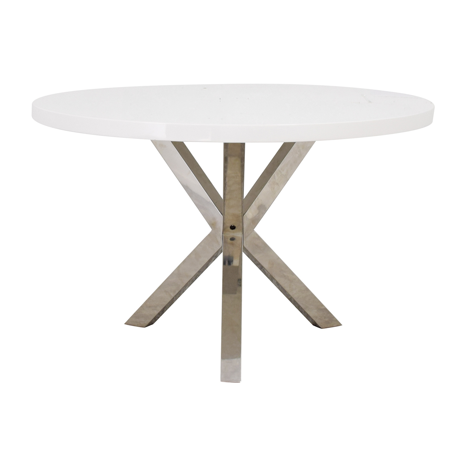 Pangea Home Pangea Home White Round Dining Table nj