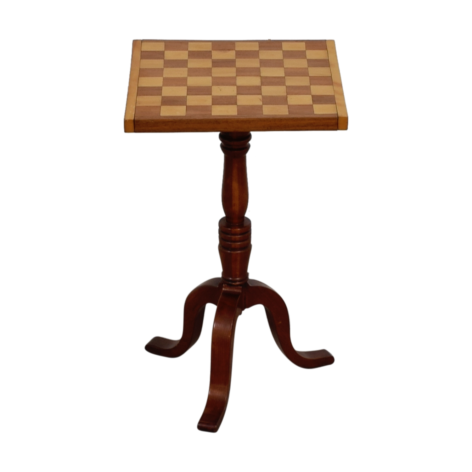 Custom Wood Chess Board Top End Table nyc