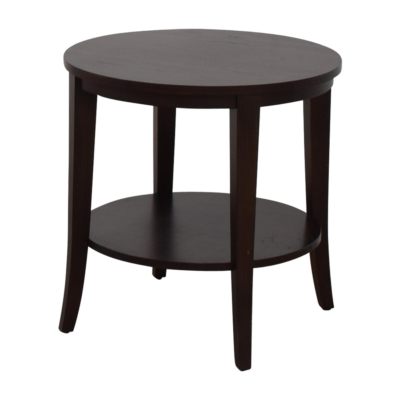 buy Ethan Allen Round Wood Accent Table Ethan Allen