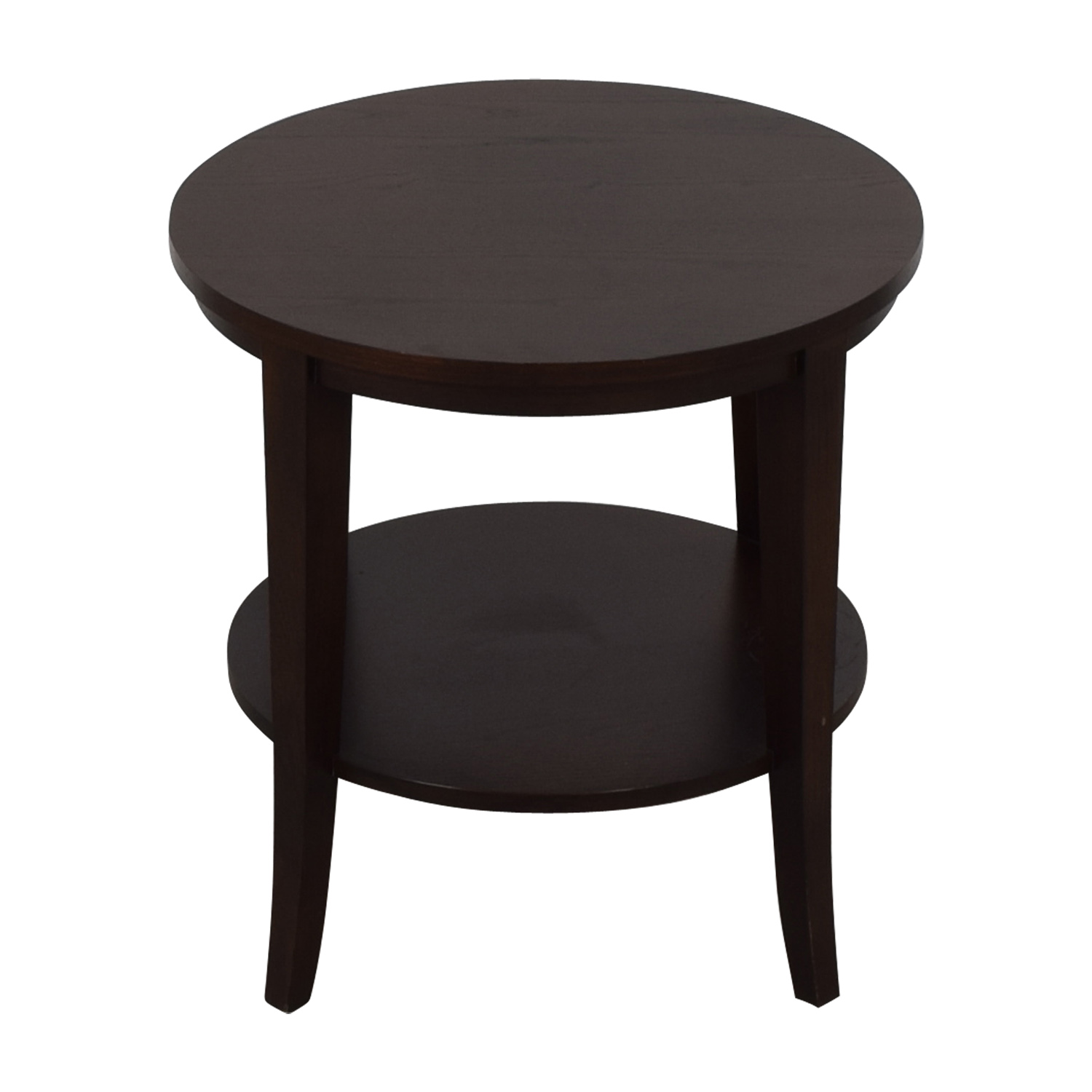 Ethan Allen Round Wood Accent Table End Tables