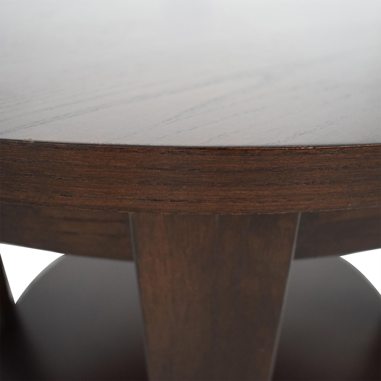shop Ethan Allen Ethan Allen Round Wood Accent Table online