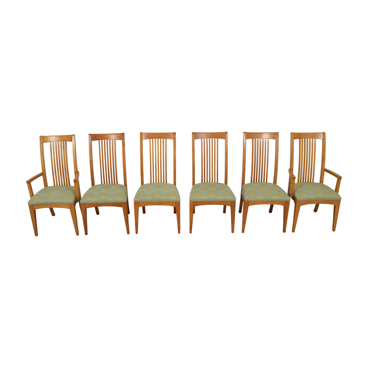 ... Ethan Allen Ethan Allen New Impressions Sage U0026 Gold Upholstered Dining  Chairs ...
