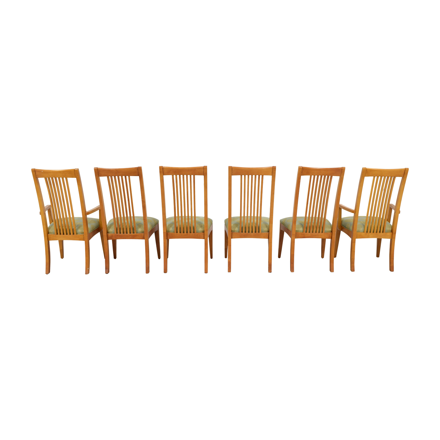 Ethan Allen Ethan Allen New Impressions Sage & Gold Upholstered Dining Chairs dimensions