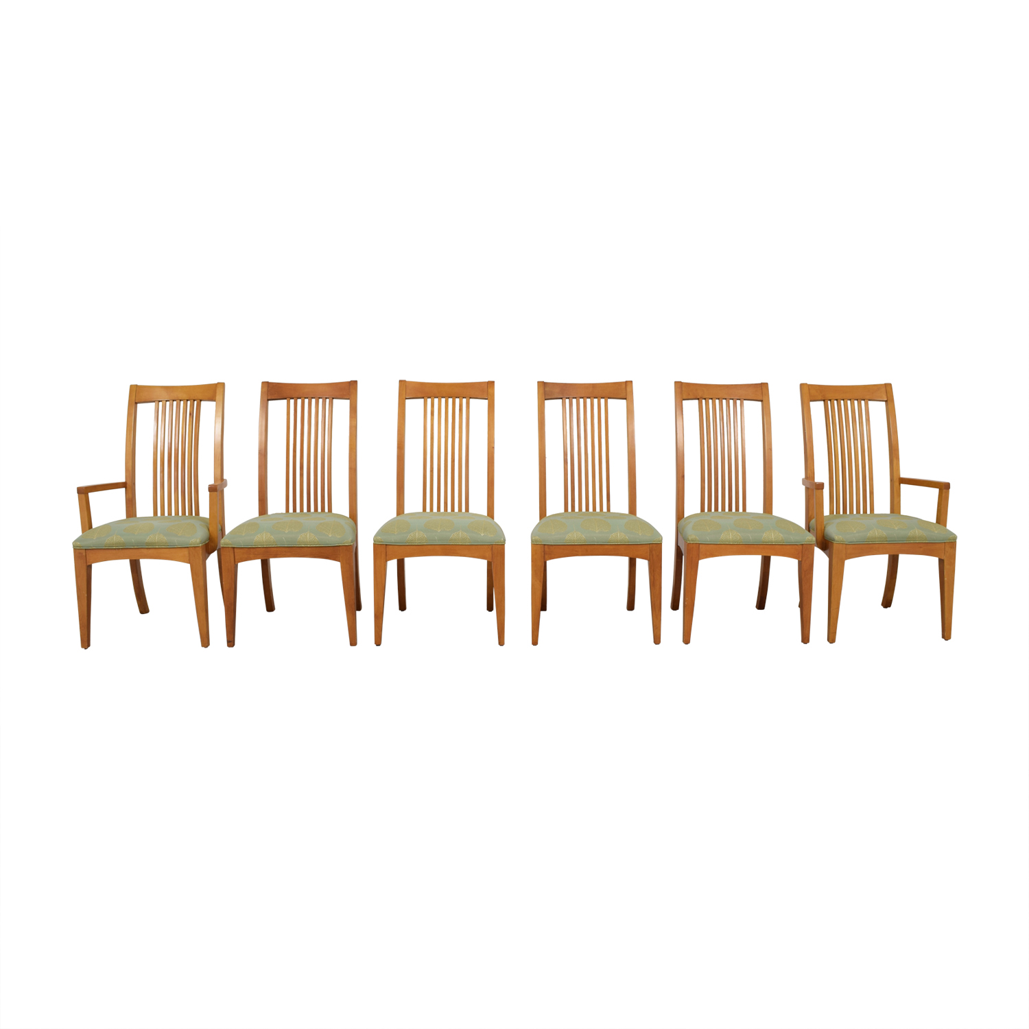 Ethan Allen Ethan Allen New Impressions Sage & Gold Upholstered Dining Chairs / Chairs