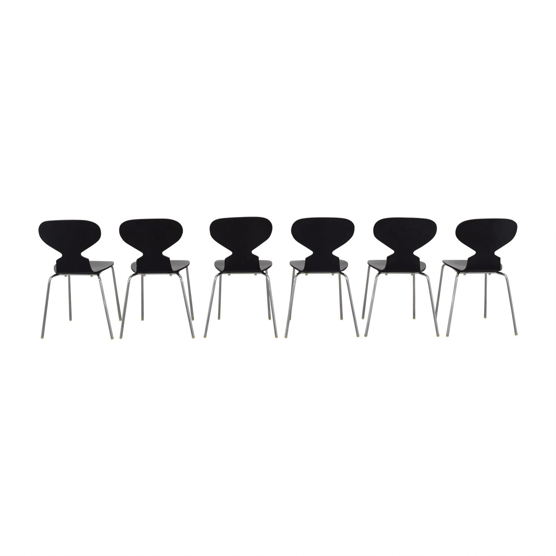 Restoration Hardware Restoration Hardware Forma Black Chairs