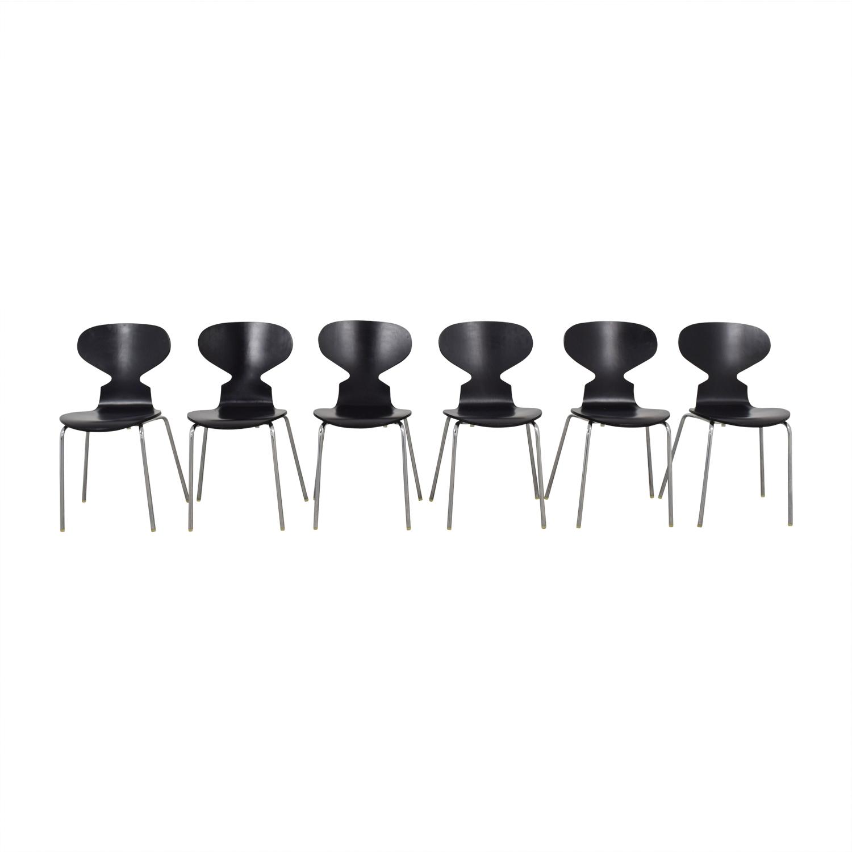 Restoration Hardware Forma Black Chairs sale