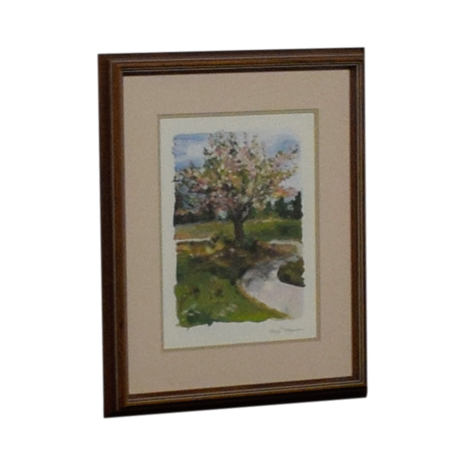 shop Margi Hageona Signed  Watercolor Blossoms in Springtime Margi Hageona