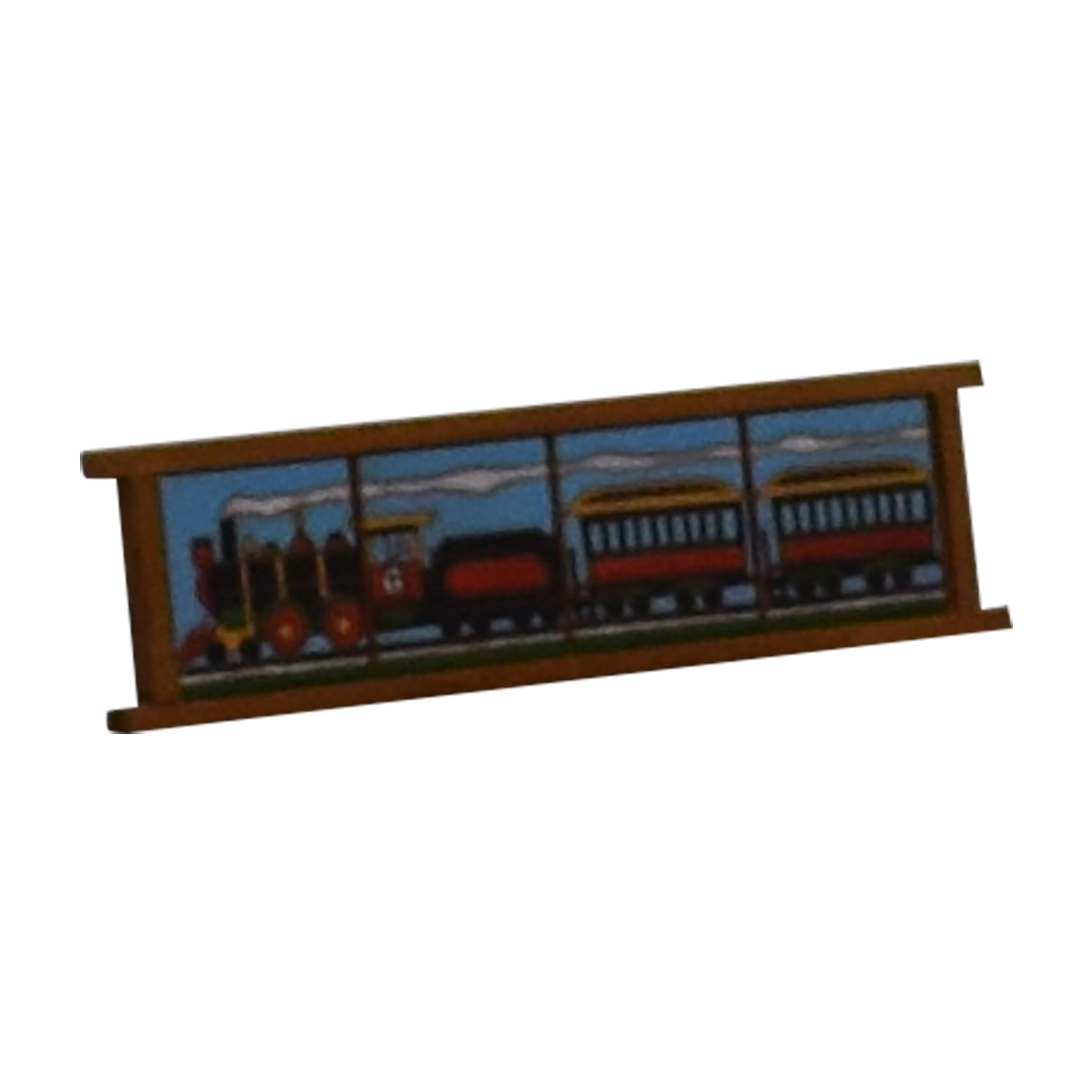 Colorful Locomotive Choo Choo Train Plaque discount