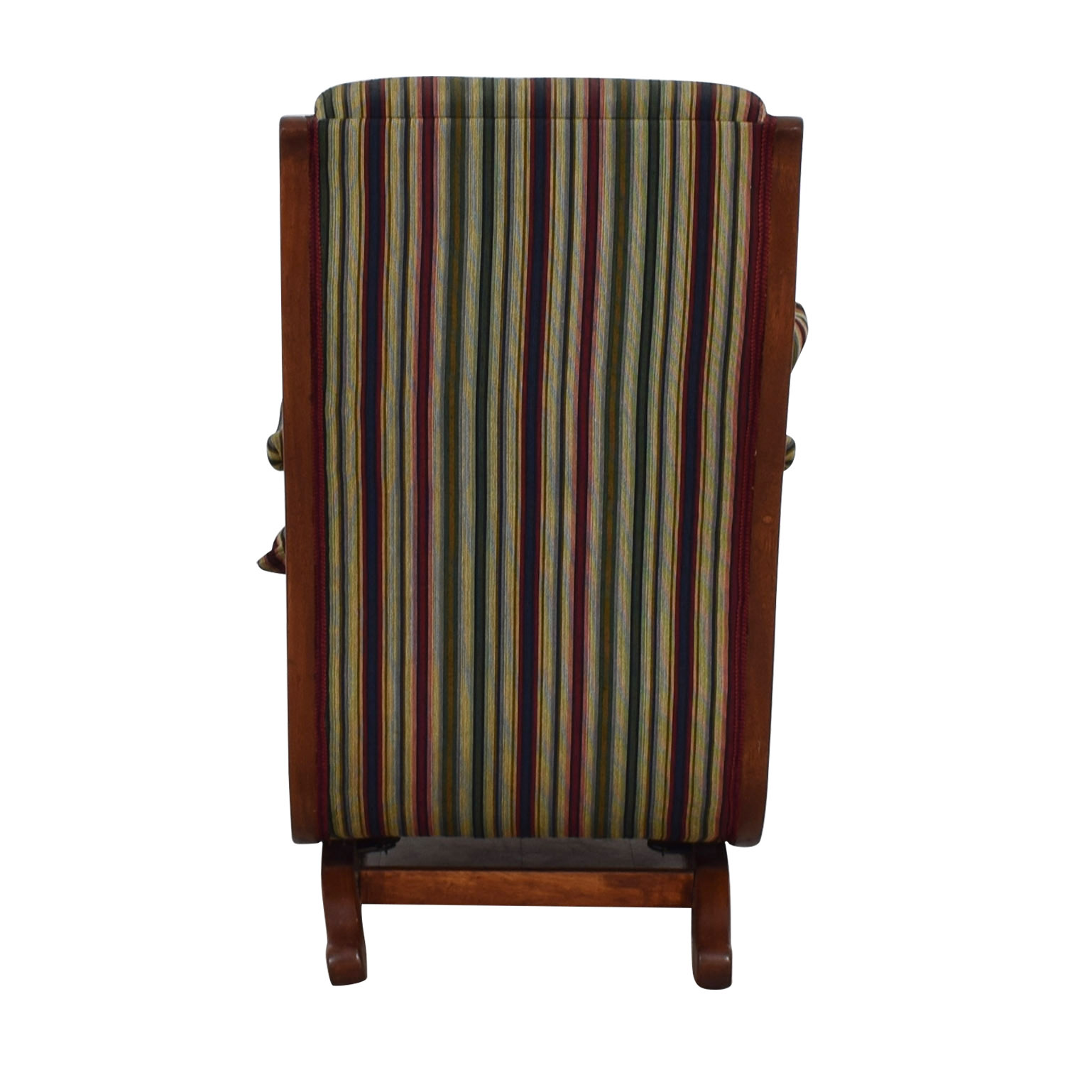 Cherry Gooseneck Striped Platform Rocker second hand