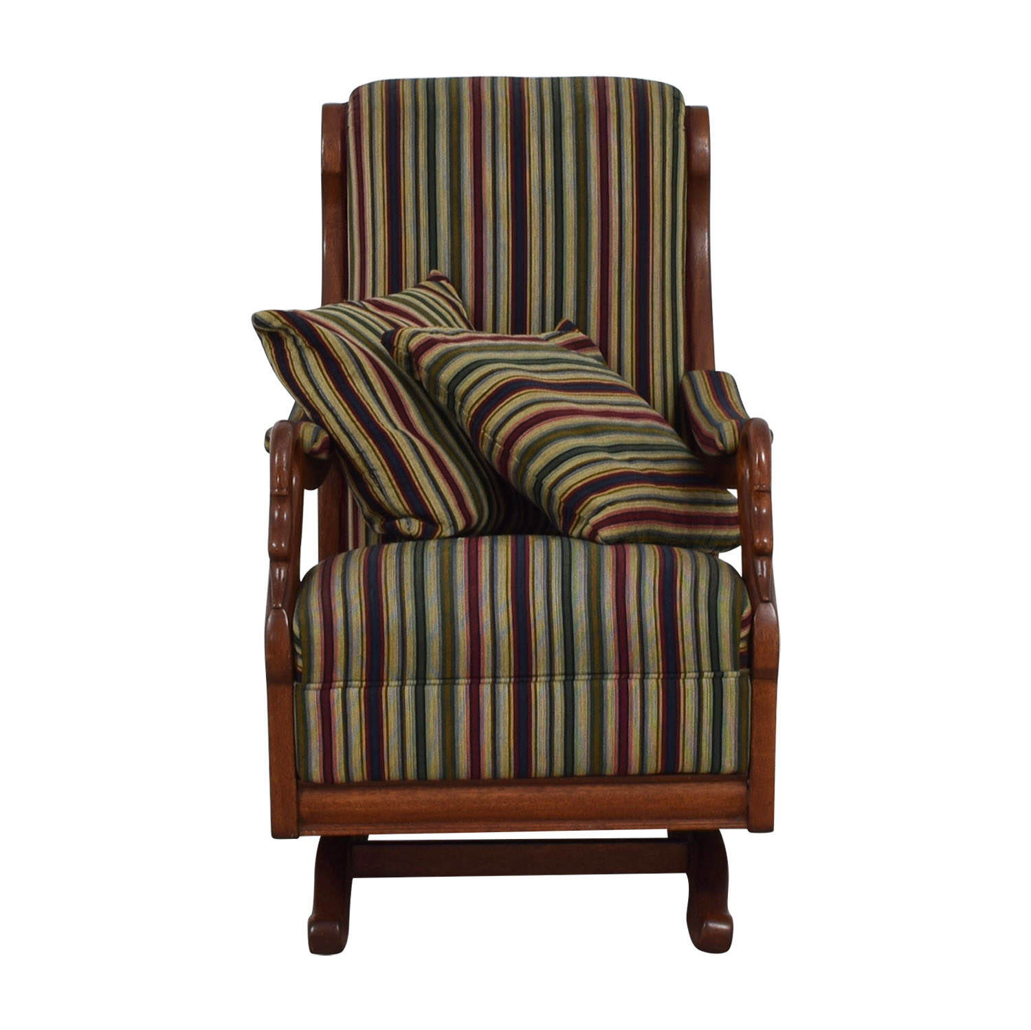 shop Cherry Gooseneck Striped Platform Rocker  Accent Chairs