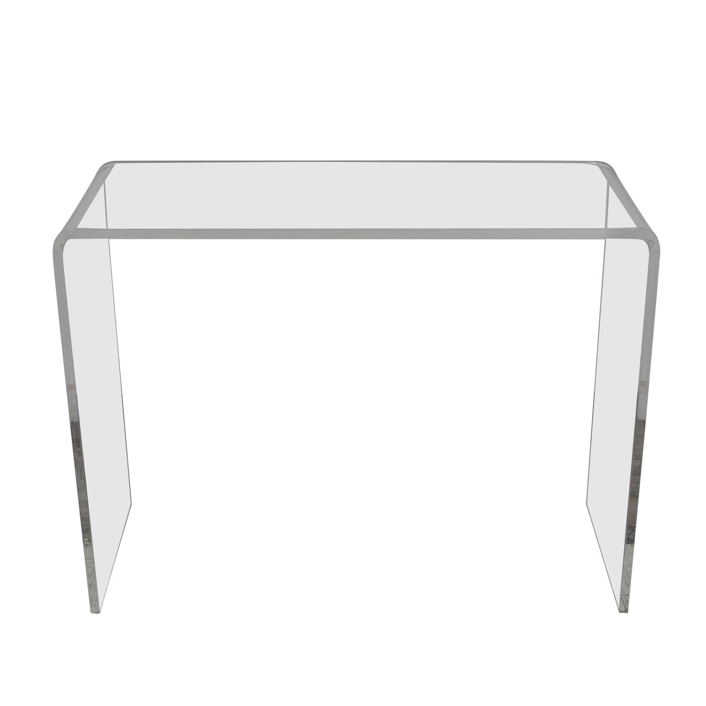 Peekaboo Clear Coffee Table: CB2 CB2 Peekaboo Acrylic Console Table / Tables