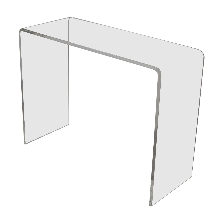 CB2 CB2 Peekaboo Acrylic Console Table Tables
