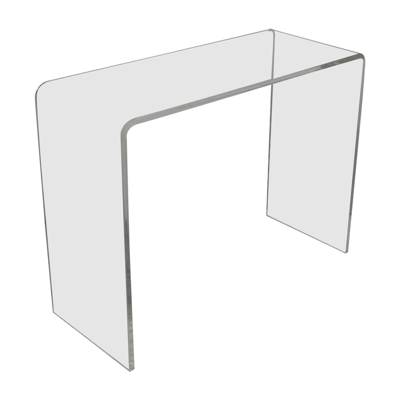 OFF CB CB Peekaboo Acrylic Console Table Tables - Cb2 sofa table