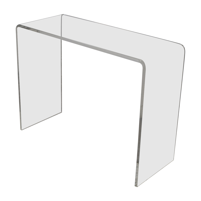 buy CB2 Peekaboo Acrylic Console Table CB2