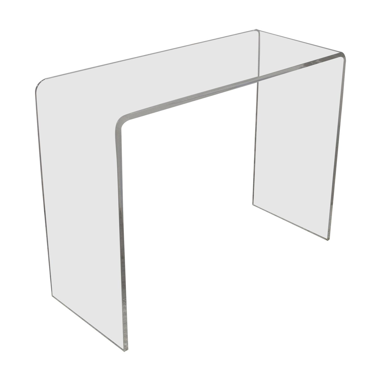 CB2 Peekaboo Acrylic Console Table sale