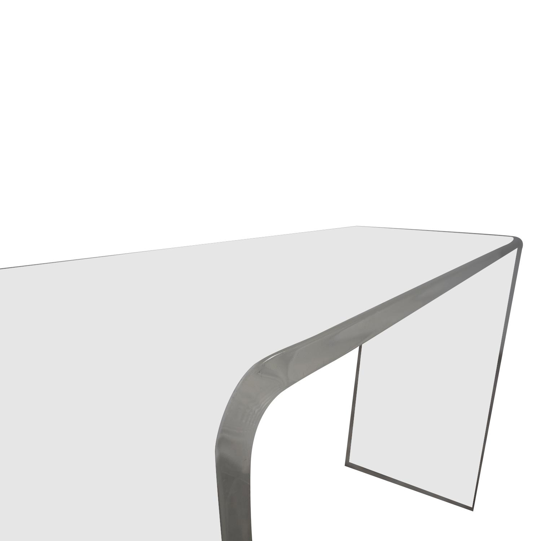 buy CB2 Peekaboo Acrylic Console Table CB2 Accent Tables