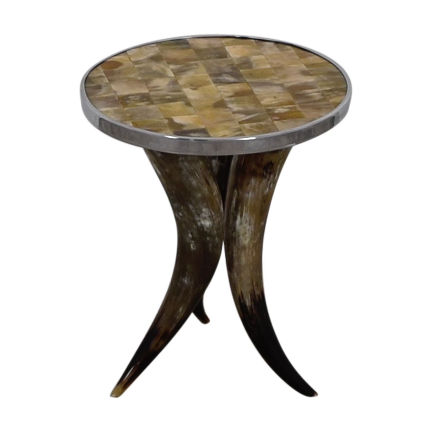 Tile and Chrome Side Table on sale