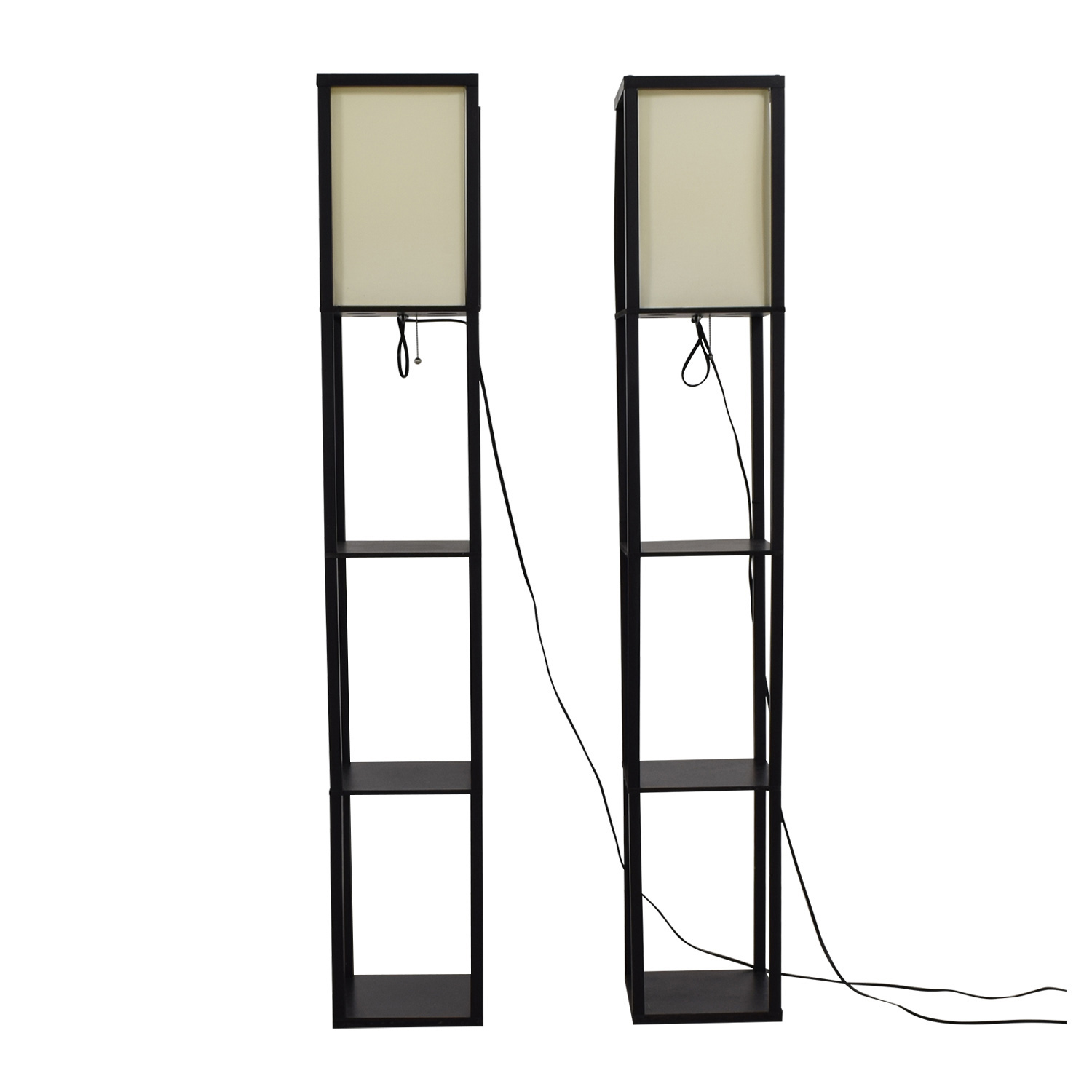 Black Caged Standing Lamps for sale