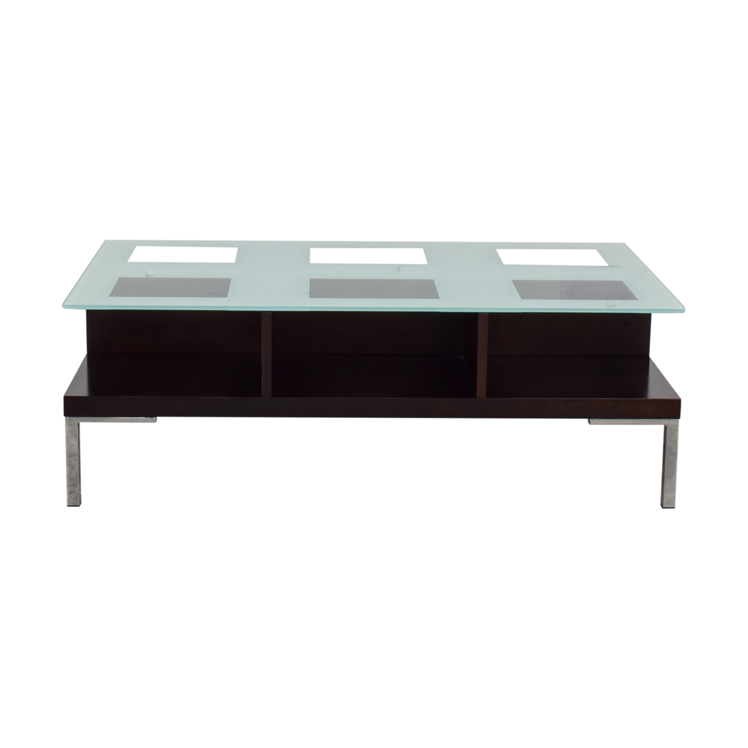 Glass Rectangle Coffee Table used