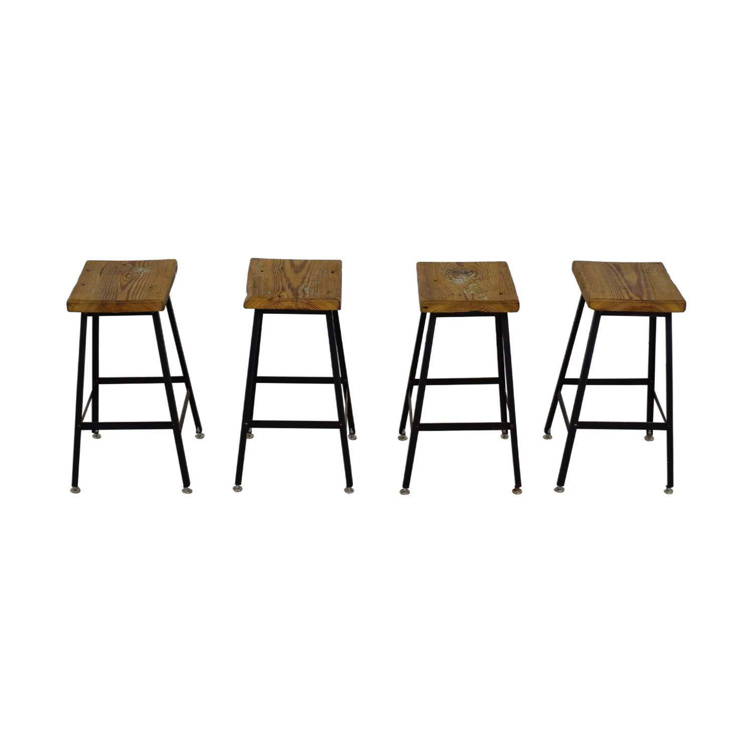 Urban Wood Goods Urban Wood Goods Reclaimed Wood Bar Stools