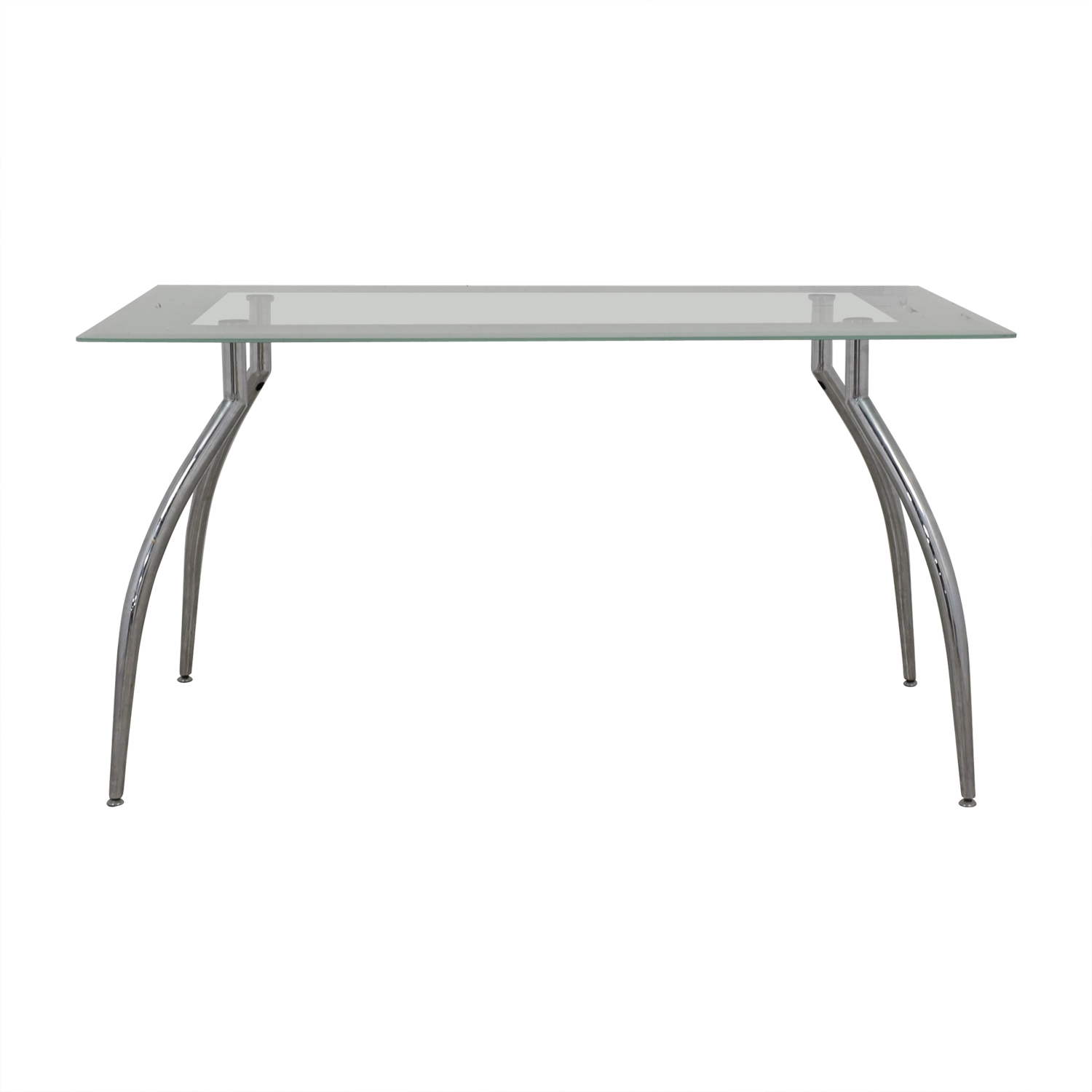 buy Jensen Lewis Jensen Lewis Glass and Chrome Dining Table online