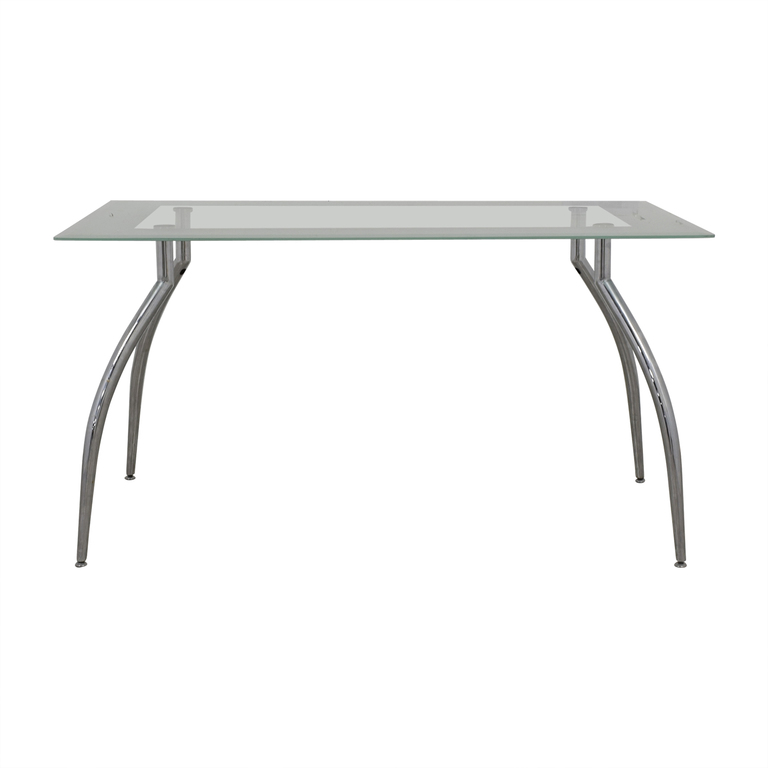 Jensen Lewis Jensen Lewis Glass and Chrome Dining Table discount