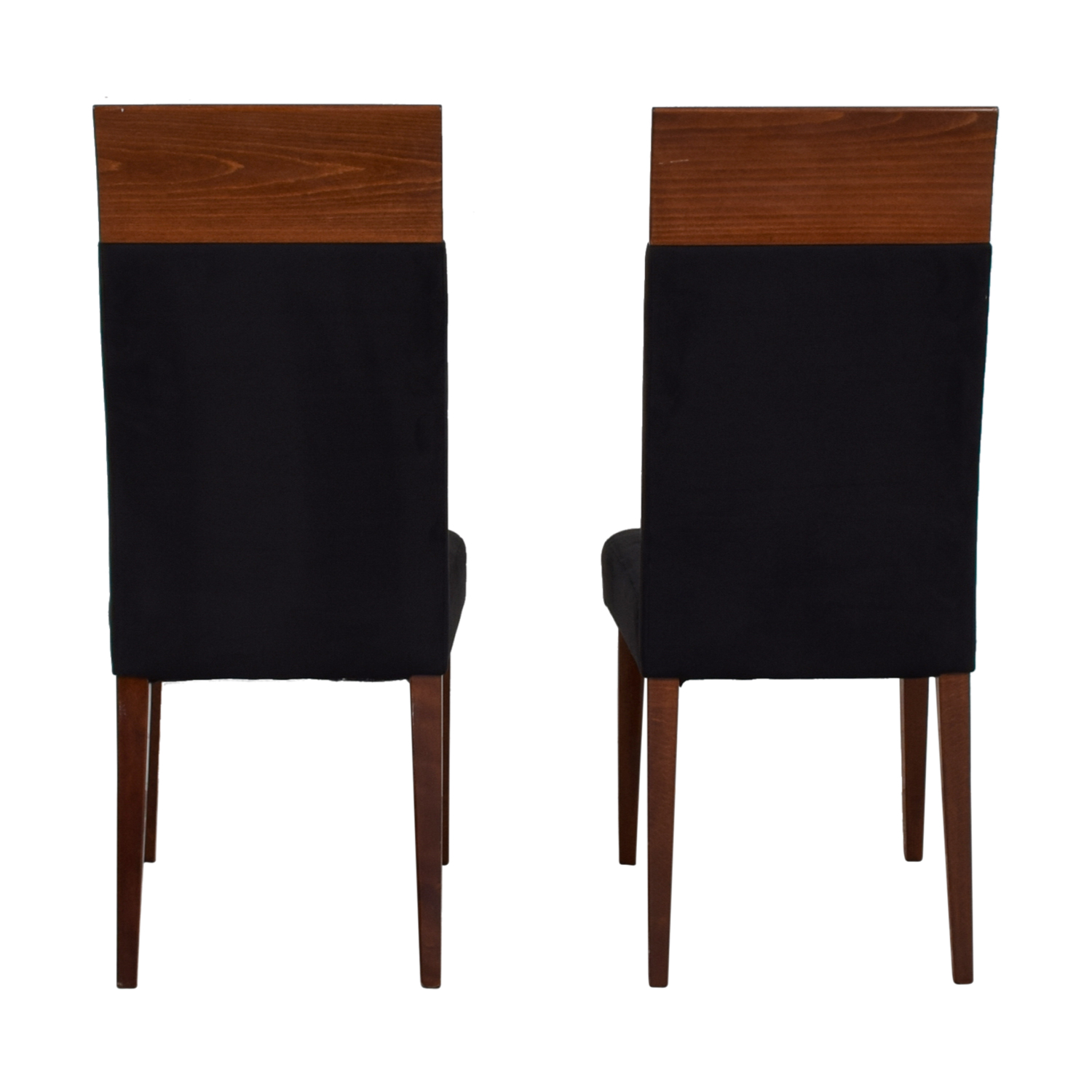 Black Upholstered Wood Dining Chairs sale