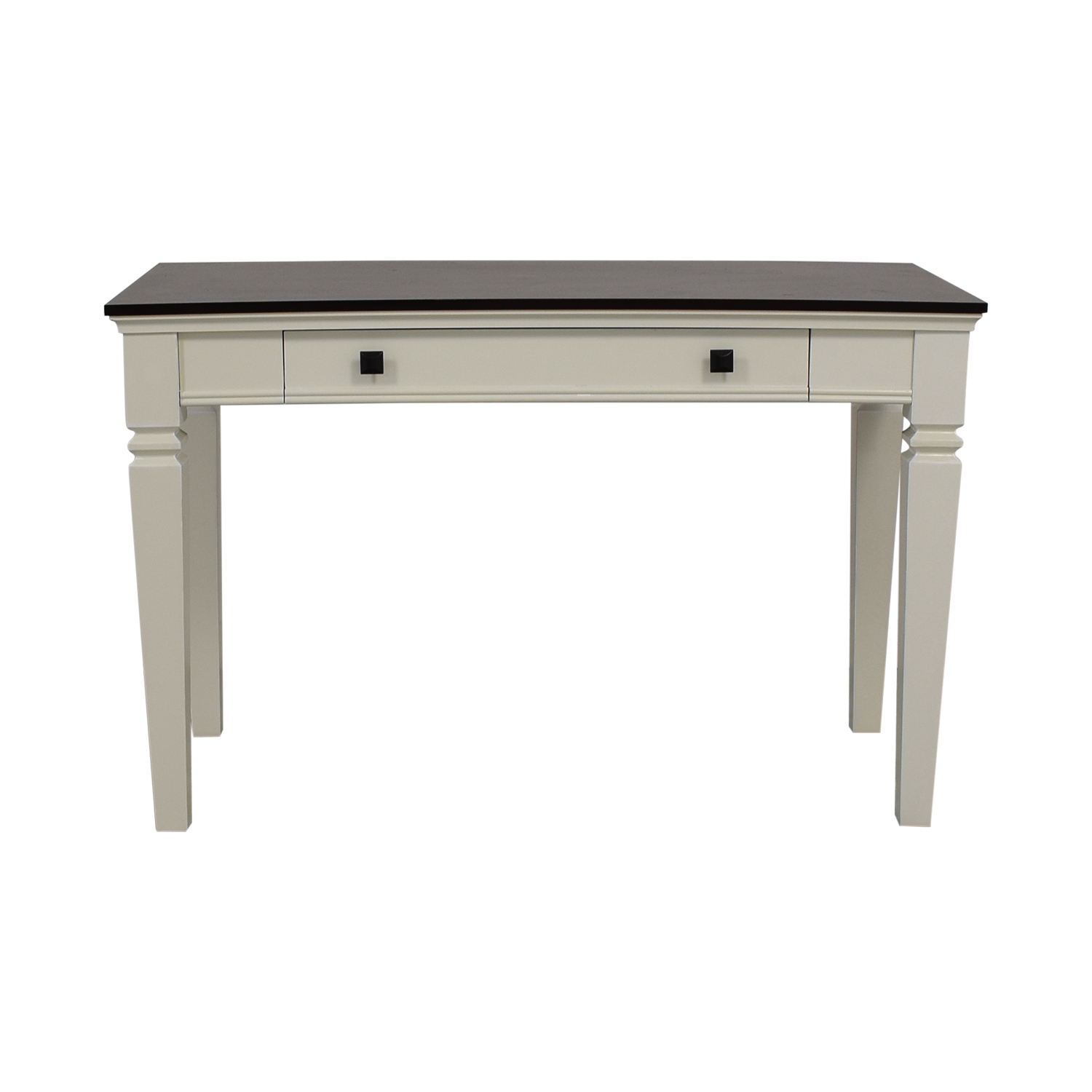 Picture of: 77 Off Staples Staples Raine White And Black Computer Desk Tables