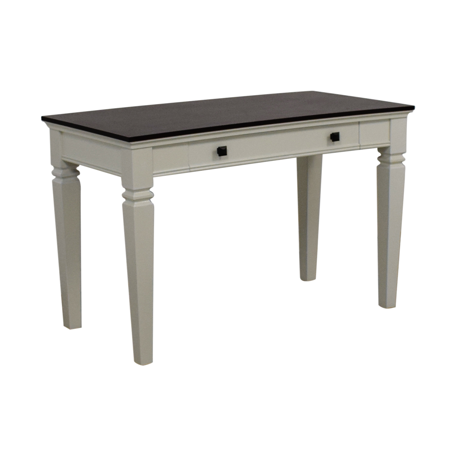 77 Off Staples Staples Raine White And Black Computer Desk Tables