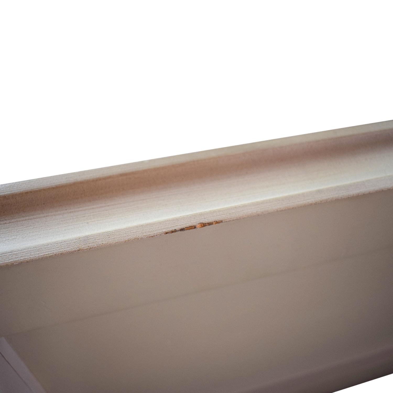 Restoration Hardware Maison Nailhead Beige Panel Queen Platform Bed Frame Restoration Hardware