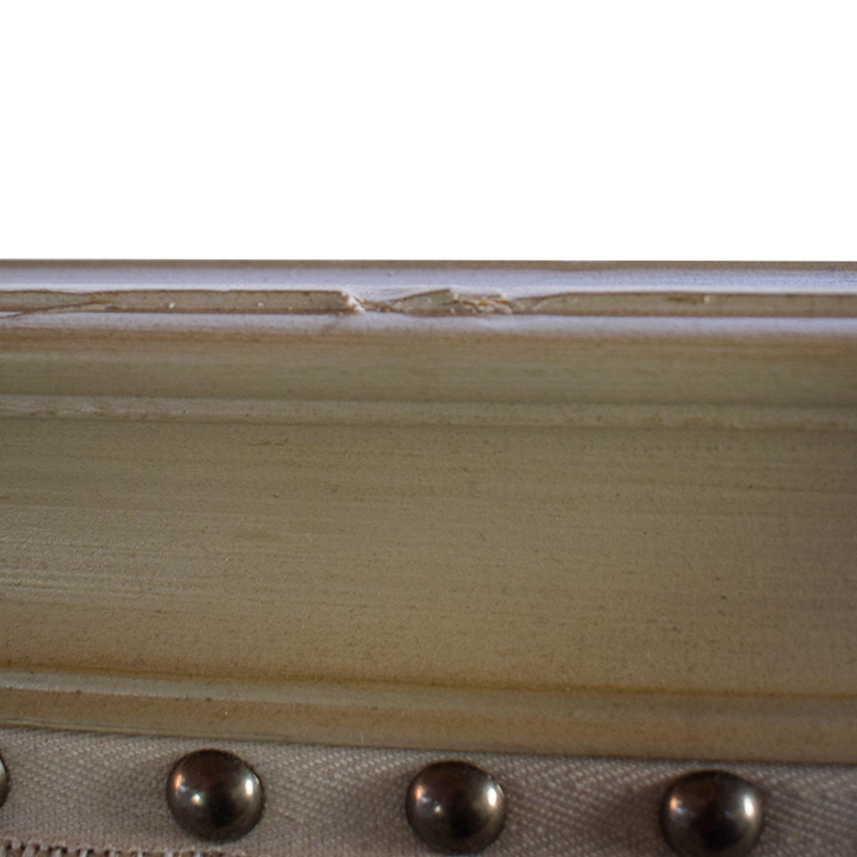 buy Restoration Hardware Maison Nailhead Beige Panel Queen Platform Bed Frame Restoration Hardware Beds