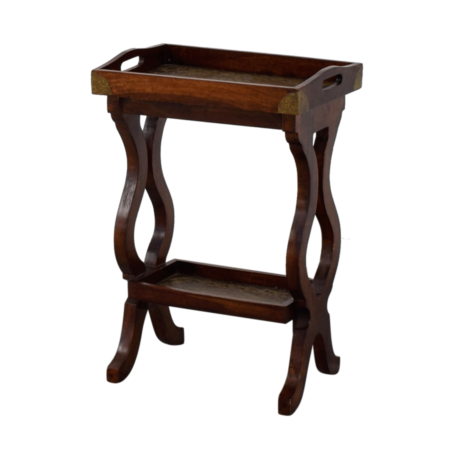 Pottery Barn Wood Table: Pottery Barn Pottery Barn Wood Side Table / Tables
