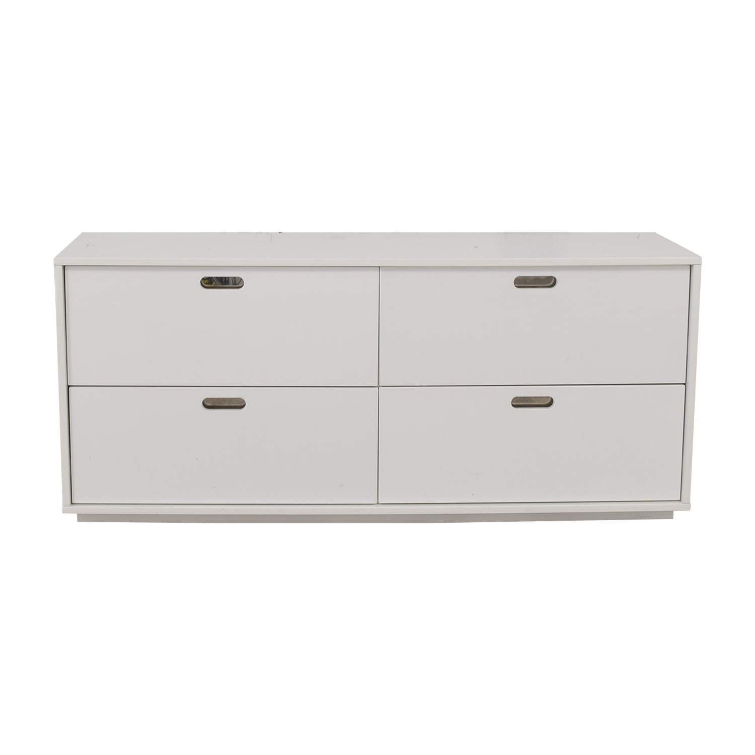 CB2 CB2 White Four-Drawer Low Dresser discount
