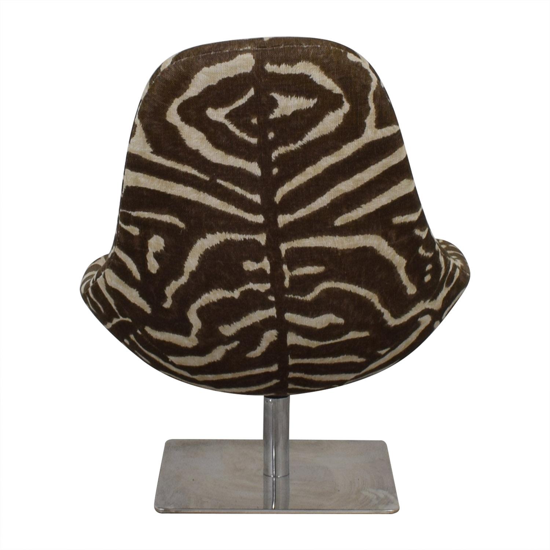 Ralph Lauren Zebra Print Swivel Chair / Sofas