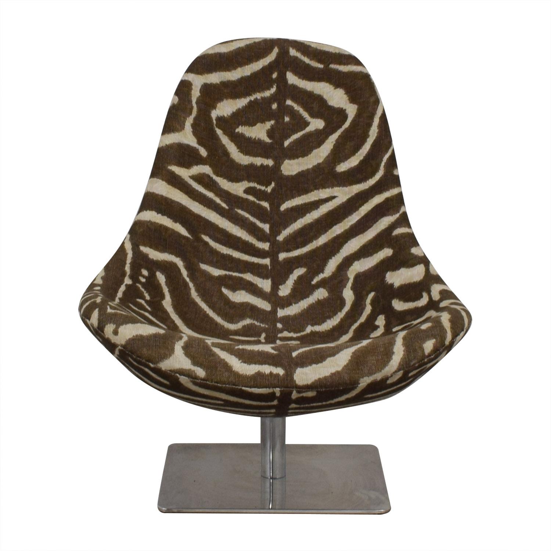 buy Ralph Lauren Ralph Lauren Zebra Print Swivel Chair online