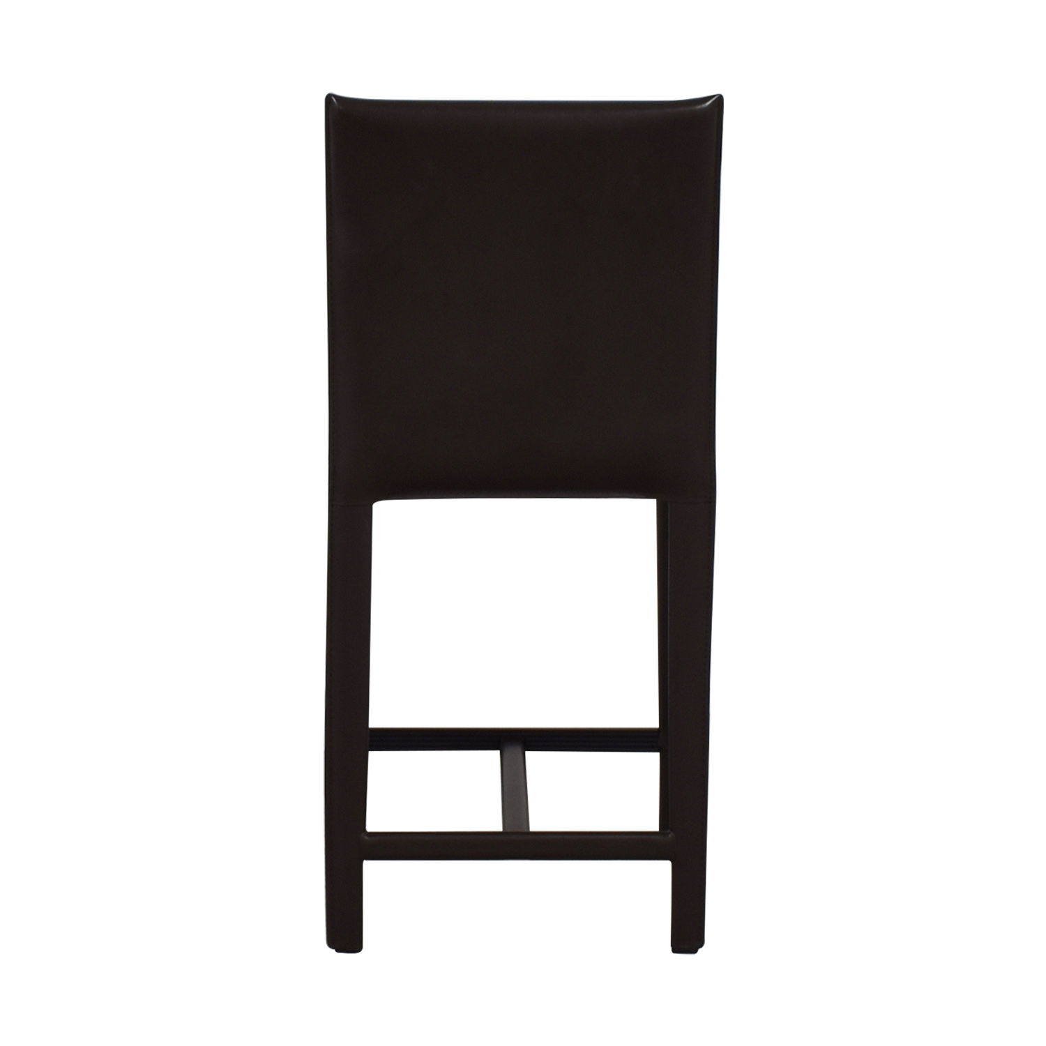 Crate & Barrel Crate & Barrel Brown Leather Bar Stool for sale