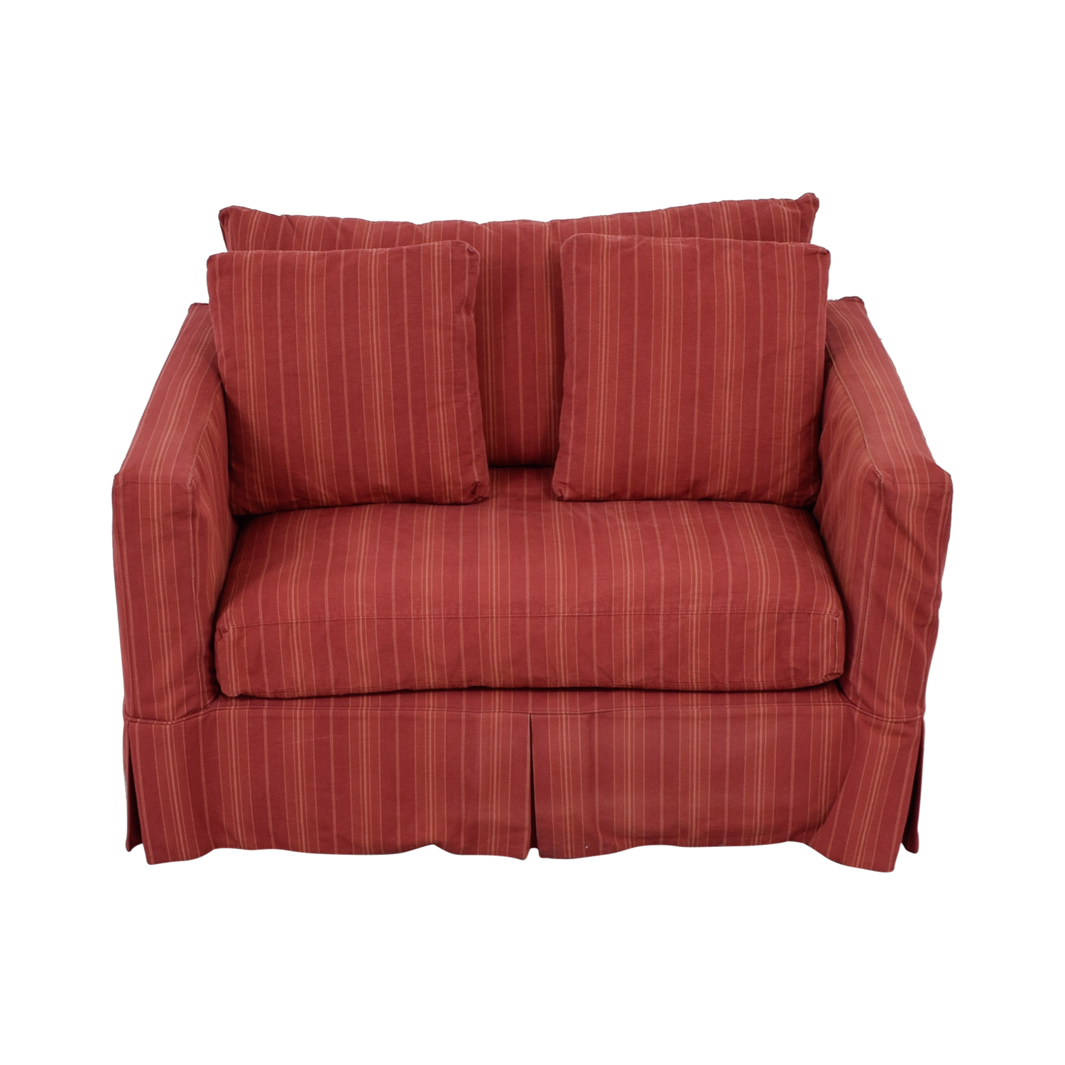 Crate & Barrel Crate & Barrel Willow Red Accent Chair nyc