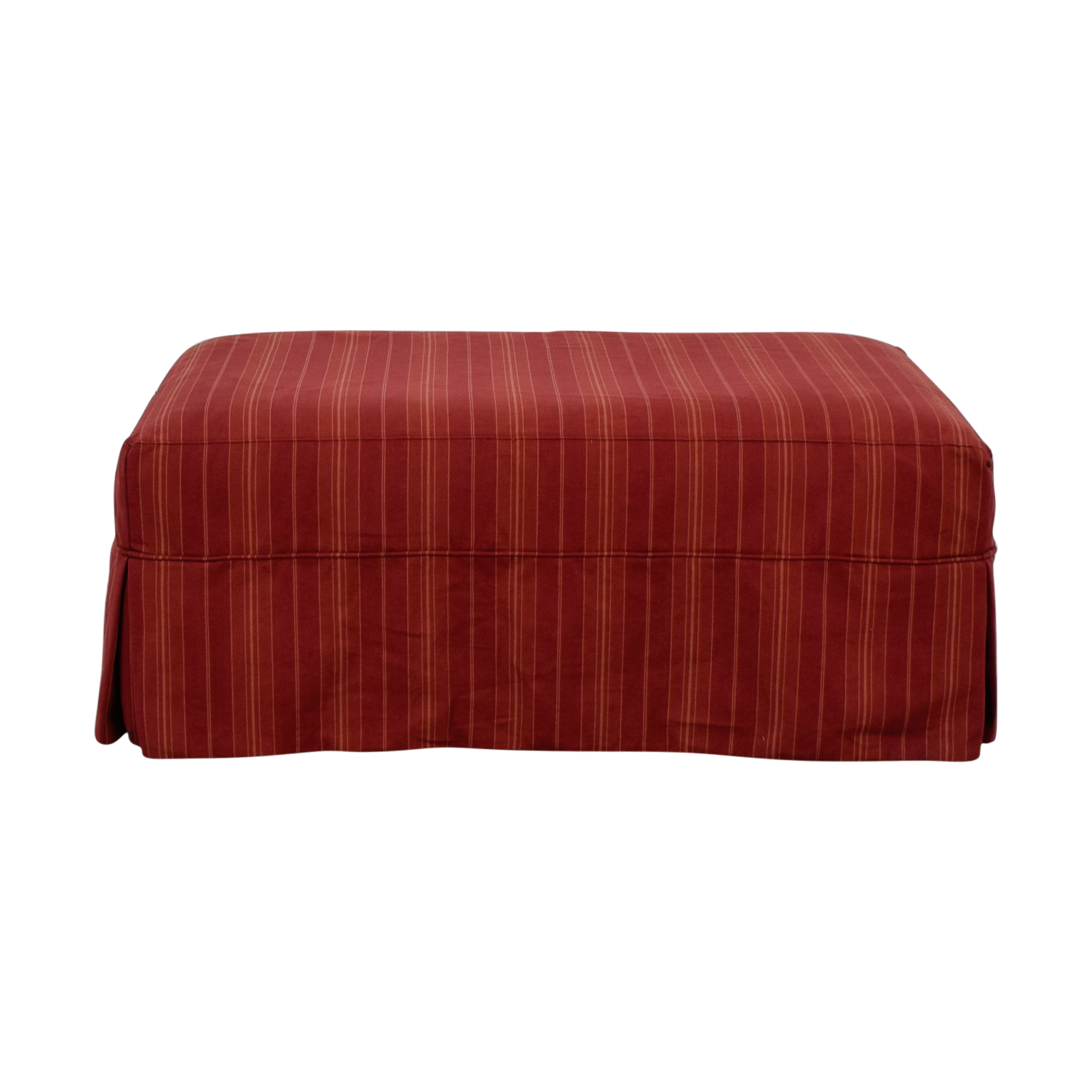 shop Crate & Barrel Crate & Barrel Willow Red and Beige Ottoman on Casters online