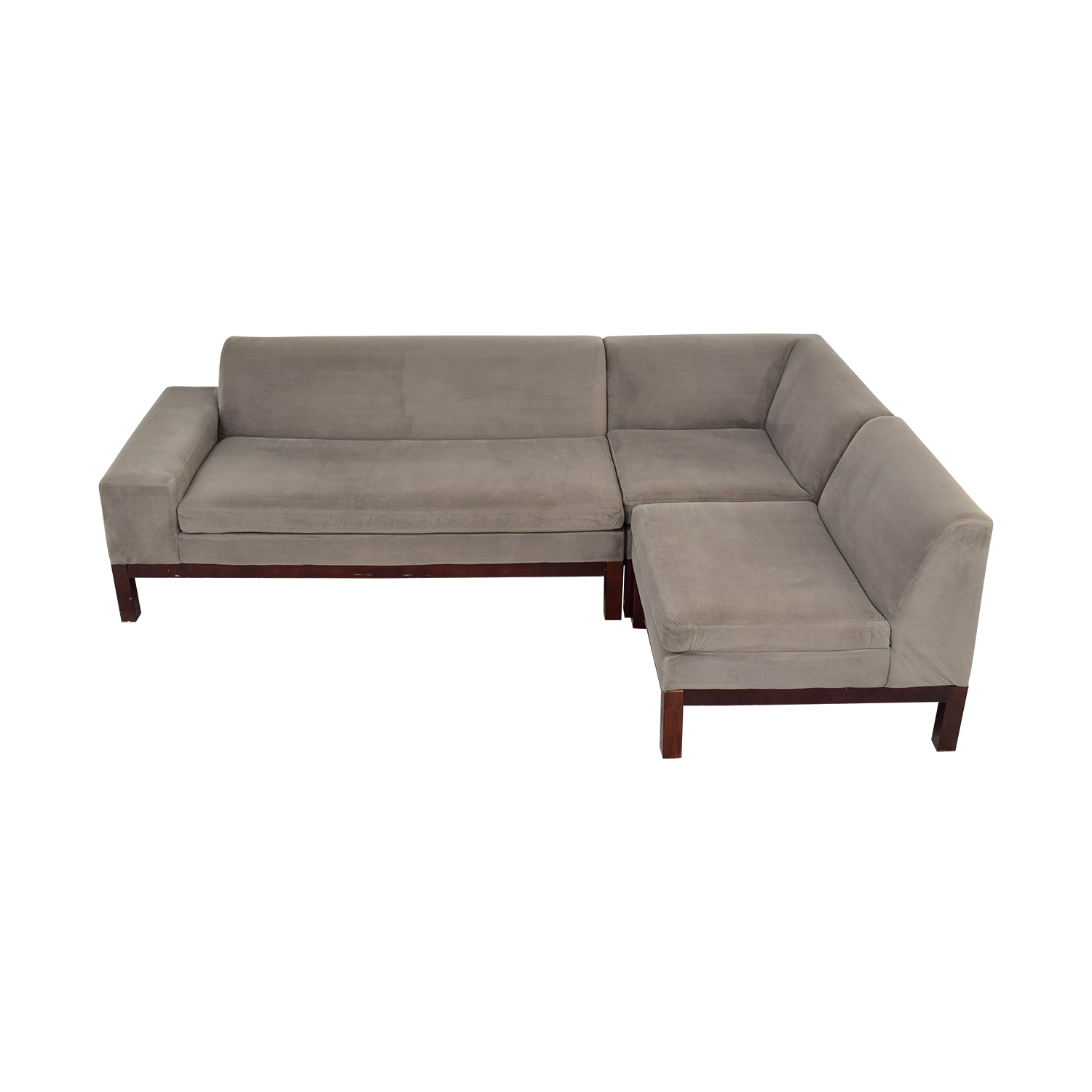 shop West Elm Three-Piece Sectional West Elm