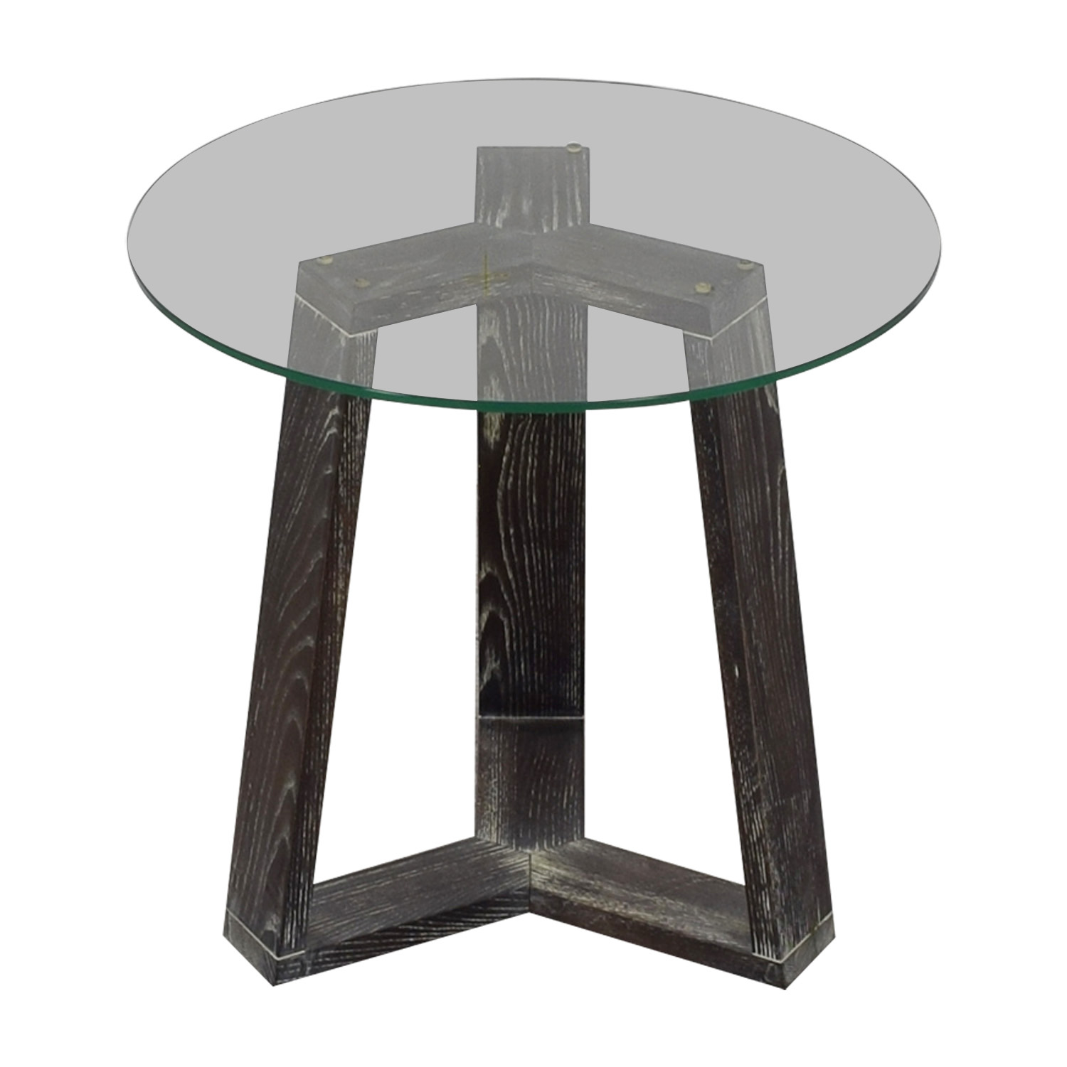 West Elm West Elm Round Glass Side-Table for sale